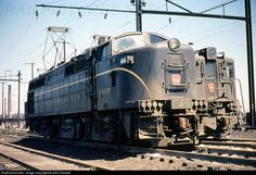 High quality photograph of Pennsylvania Railroad BLW # PRR 4995 at Kearny, New Jersey, USA. Electric Locomotive, Diesel Locomotive, Steam Locomotive, Train Car, Train Tracks, Old Trains, Vintage Trains, Long Island Railroad, Locs