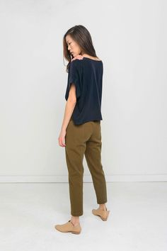 Clyde Work Pant in Cotton Twill – Elizabeth Suzann
