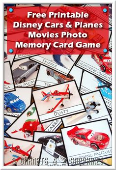 3 Garnets & 2 Sapphires: Free Printable: Disney Pixar Films Cars and Planes Photo Memory Card Game #WorldofCars #shop