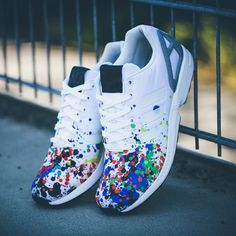 premium selection 1fb26 50dc2 adidas Originals ZX Flux  Splatter  Adidas Zx Flux Shoes, Tenis Adidas,  Adidas