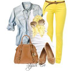 Yellow Skinny Jeans :)