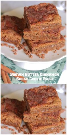 Brown Butter Cinnamon Sugar Cookie Bars!