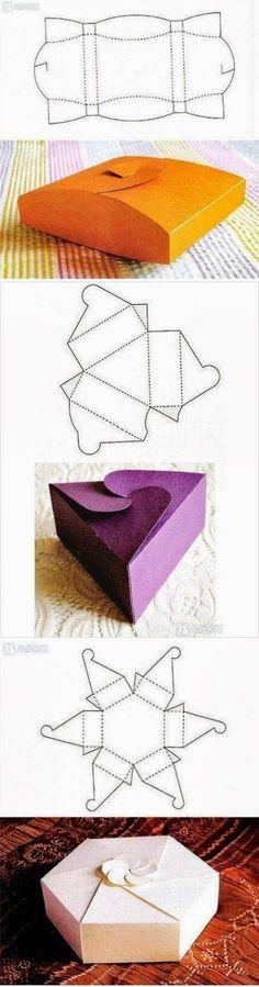 Plantillas para cajas originales / original boxecosas , uy interesantes patterns: