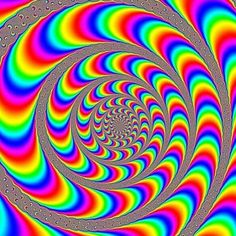 Trippy eye tricks & illusions. Don't look straight at it