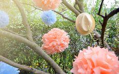 DIY: Pompony z bibuły + stylizacje | | Coś estetycznego - blog o designie i DIY