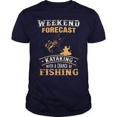 KAYAKING FISHING! T-Shirts & Hoodies