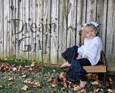 Triple Ruffle Denim Pants and Just a Little Lace Peasant top by Dream A Little Dream!!