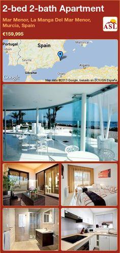2-bed 2-bath Apartment in Mar Menor, La Manga Del Mar Menor, Murcia, Spain ►€159,995 #PropertyForSaleInSpain