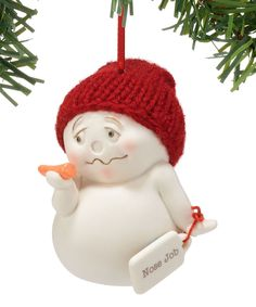 This Snowpinions Snowman Nose Job Ornament by Snowpinions is perfect! #zulilyfinds
