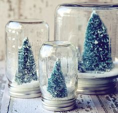 DIY Homemade Gifts for Christmas - Snow Globes - Click pic for 25 DIY Christmas Gifts