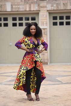 46240ac2dfc4c2 SALE NEW Rita High low Dress Jacket. by RAHYMA on Etsy African Inspired  Fashion