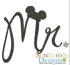 Mr. Mouse filled embroidery set by Stitcheroo Designs.