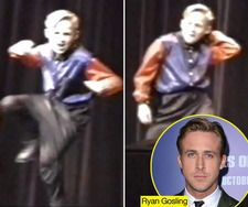 Watch 9-year-old Ryan Gosling in church talent show with sis (click for video) before MMC - AWESOME!
