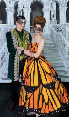 A Masquerade Party is always super fun! This young lady created the Butterfly Dress that changed from a plain one! A Masquerade Party is always super fun! This young lady created the Butterfly Dress that changed from a plain one! Masquerade Ball Costume, Masquerade Dresses, Masquerade Party, Venetian Masquerade, Masquerade Masks, Ball Gowns Prom, Ball Gown Dresses, Dance Dresses, Pageant Dresses