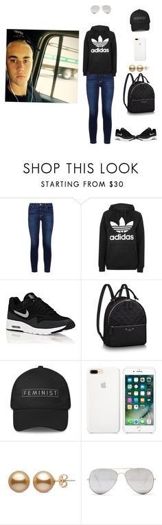 """""""Sin título #5"""" by pink-velvet-94 ❤ liked on Polyvore featuring Hudson, Topshop, NIKE, Sunny Rebel and JustinBieber"""
