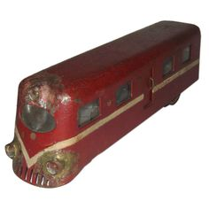 Art Deco Toy Train | From a unique collection of antique and modern toys at http://www.1stdibs.com/furniture/folk-art/toys/