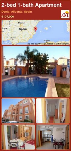 2-bed 1-bath Apartment in Denia, Alicante, Spain ►€107,000 #PropertyForSaleInSpain