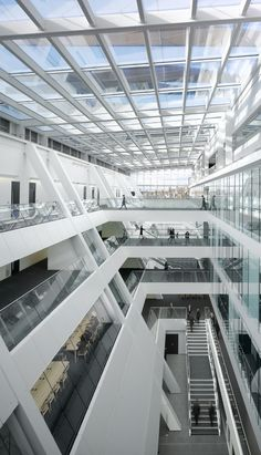 Holland Park School / Aedas - Atrium By Planet Partitioning www.planetpartitioning.co.uk