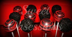 Black and Red Cake Pops