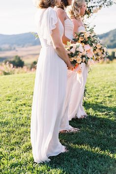 light neutral bridesmaids | tec petaja photography