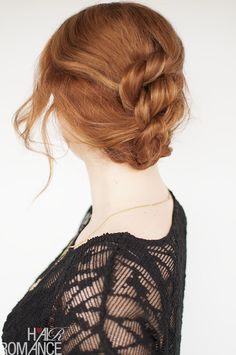 Easy knotted hairstyle - click through for full tutorial