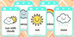 Preview: Weather Flashcards