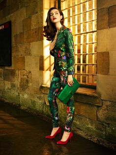 213982f95fd8b1 Ted Baker AW13 Lookbook - Take the Scenic Route Printed Blazer