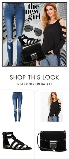 """""""Bez naslova #22"""" by candiii-86 ❤ liked on Polyvore featuring WithChic, Nine West, Givenchy and Yves Saint Laurent"""