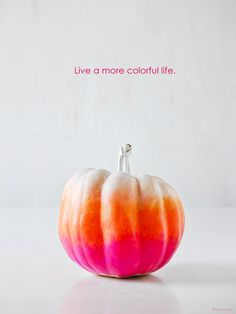 Cutest ombre pumpkin ever! Tutorial on how to create.