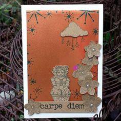 ATC cartes de nOël avec les tampons - tampons la compagnie des elfes Carpe Diem, Tampon Scrapbooking, Kawaii, Tampons, Snowman, Cards, Elves