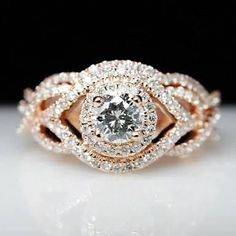 2.01 cts SI Clarity Gorgeous Real Sparkling Certified Diamonds Ring In 9 Kt Gold | eBay