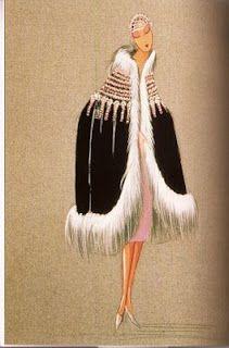 An early Lanvin fashion sketch.