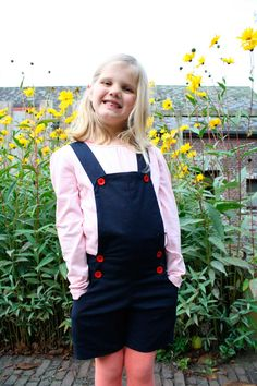 Charles dungarees with a bow tie, Hi, I'm Inge from www.coucoucastor.be. I've made this very cute Charles dungarees with a bow tie. I made long straps with a short strap to connect bot...  #Charles'pants #contest2015 #patternhack