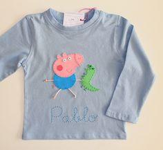 cocodrilova: camiseta personalizada George Pig  #camisetapersonalizada #bebe #peppapig #camiseta #handmade