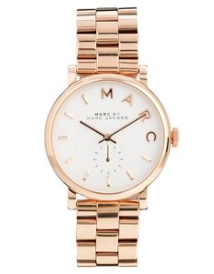 Marc By Marc Jacobs | Marc By Marc Jacobs Baker Rose Gold Watch at ASOS. Perfect, just take out the rose and all of the words.