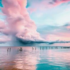 Image about sky in nature  by Caaat on We Heart It #clouds #water #sen #blue #lune #sky #moon #ocean #nature #gwiazdy #księżyc #niebo #marzenia #sea #pink #nature #noc #random #L4L #photooftheday #amazing