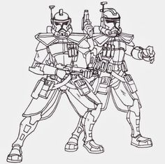 Printable Coloring Pages Star Wars Clone Troopers Free