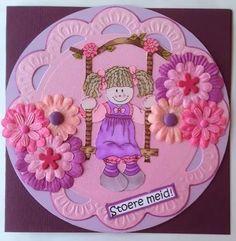 Girl Swinging, Decorative Plates, Birthday Cake, Sweet, Girls, Desserts, Food, Design, Products