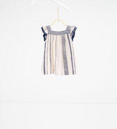 Image 2 of Fabric stripe dress from Zara
