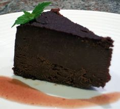 Ghirardelli Flourless Dark Chocolate Torte - Ghiradelli 60% cacao are the VERY best chocolate chips - eat right out of the freezer when a craving strikes :)