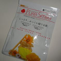 Pure Smile Mask Sheet - set of 5 Honey Essence Masks - brand new, never opened - retails for $6 #memebox #sale $3.00 plus shipping