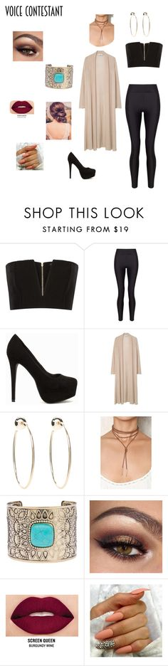 """Untitled #81"" by brigliamaddy ❤ liked on Polyvore featuring Balmain, Miss Selfridge, Nly Shoes, MANGO, Bebe, Eloquii, Smashbox, thevoice and YahooView"