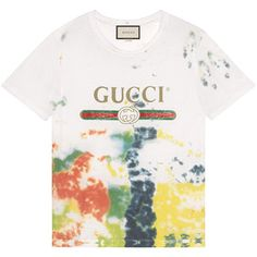 Gucci Cotton Tie-Dye T-Shirt With Gucci Print