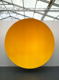 "jeffdtaylor: "" Anish Kapoor, (Untitled), 2010 @ Frieze Art Fair NYC (Photo: May "" Modern Sculpture, Sculpture Art, Frieze Art Fair, Anish Kapoor, Illustration Art, Illustrations, Mellow Yellow, Yellow Art, Conceptual Art"