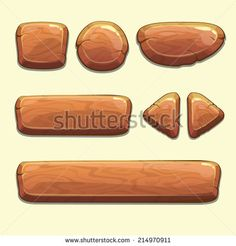 stock-vector-set-of-cartoon-wooden-buttons-with-different-shapes-vector-gui-elements-214970911.jpg 450×470 pixels