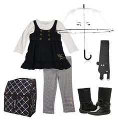 """Rainy Autumn Day Toddler Fashion"" by casuallysav ❤ liked on Polyvore featuring Calvin Klein, Kate Spade and pediped"