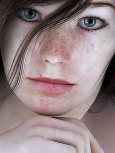 #3D #characters #design Freckle Test author: SaphireNishi