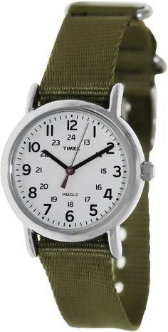 Timex Women's T2P2289J Weekender Olive Slip-Thru Nylon Strap Watch - http://www.specialdaysgift.com/timex-womens-t2p2289j-weekender-olive-slip-thru-nylon-strap-watch/