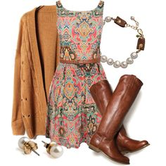 """Paisley & Pearls"" by qtpiekelso on Polyvore"