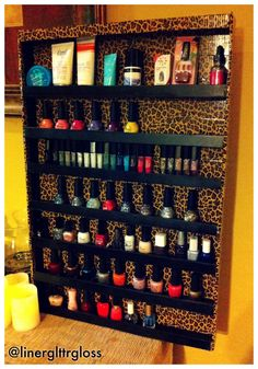 DIY Nail Polish Rack - the perfect way to store all of your precious polishes!